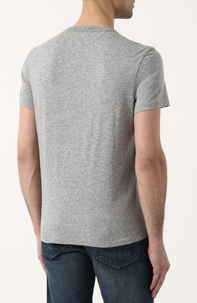Мужская хлопковая футболка TOM FORD серого цвета, арт. BP402/TFJ894   Фото 4