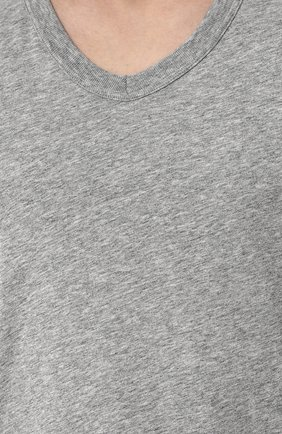 Мужская хлопковая футболка TOM FORD серого цвета, арт. BP402/TFJ894   Фото 5