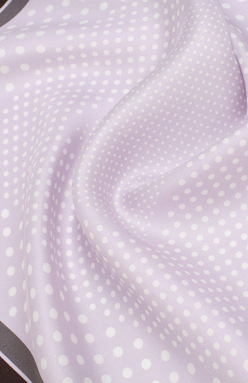 Мужской шелковый платок с узором TOM FORD сиреневого цвета, арт. 3TF101/TF312   Фото 2