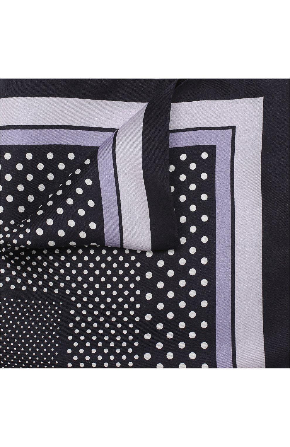 Мужской шелковый платок с узором TOM FORD синего цвета, арт. 3TF101/TF312 | Фото 1