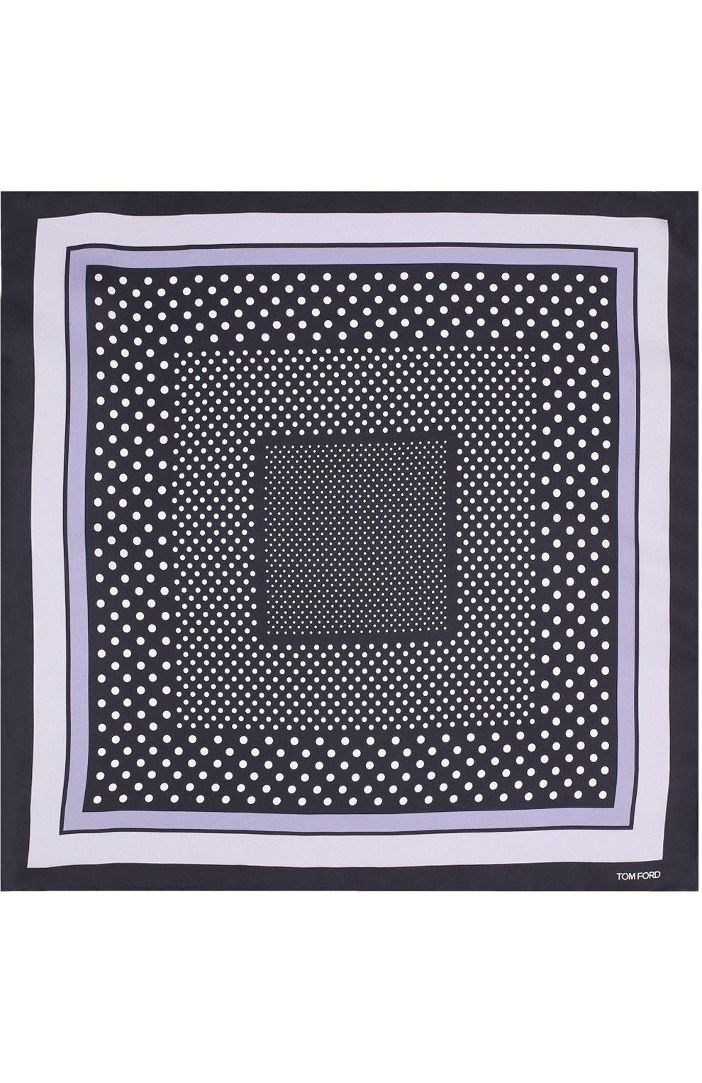 Мужской шелковый платок с узором TOM FORD синего цвета, арт. 3TF101/TF312 | Фото 3