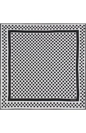 Шелковый платок с узором | Фото №3
