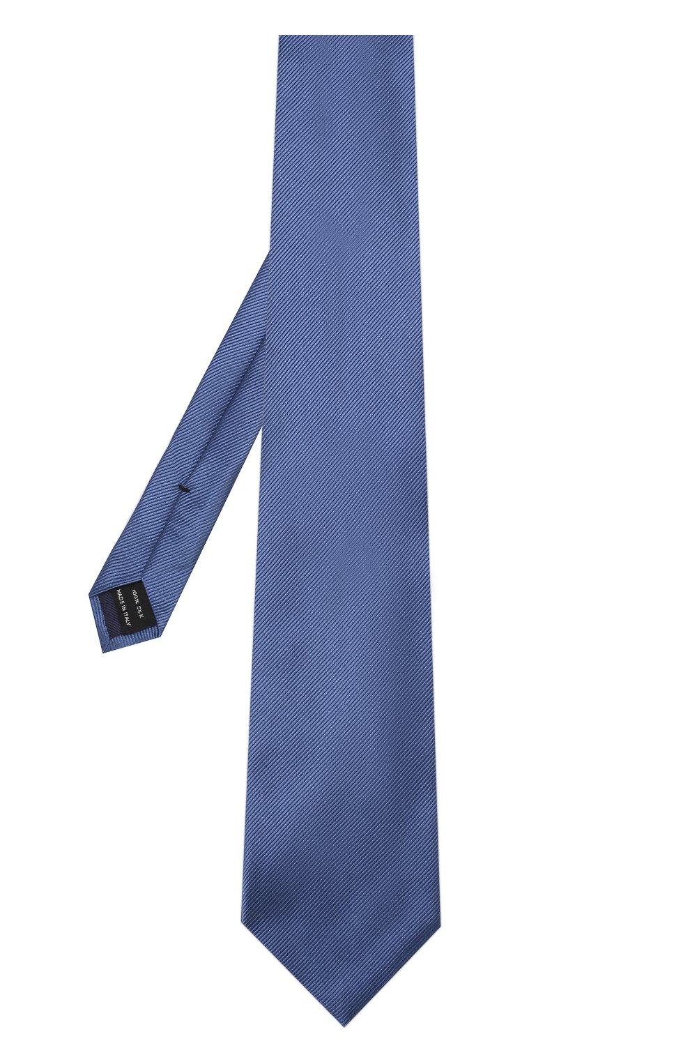 Мужской шелковый галстук TOM FORD голубого цвета, арт. 3TF08/XTF | Фото 2