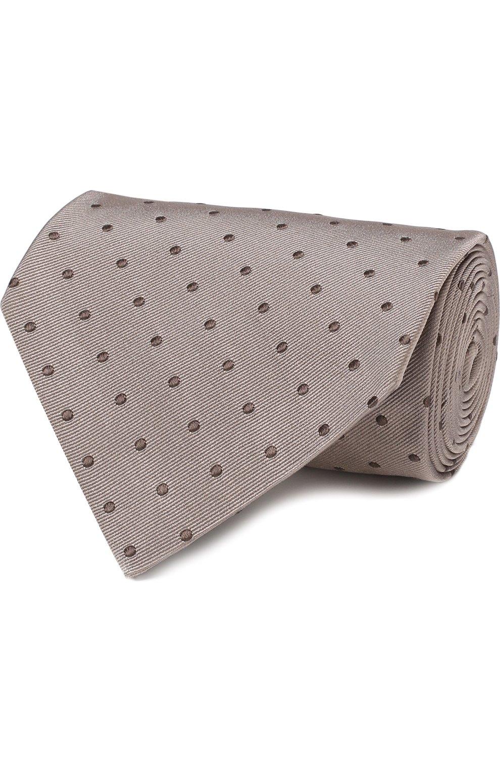 Мужской шелковый галстук TOM FORD бежевого цвета, арт. 3TF43/XTF | Фото 1