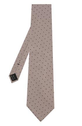 Мужской шелковый галстук TOM FORD бежевого цвета, арт. 3TF43/XTF | Фото 2