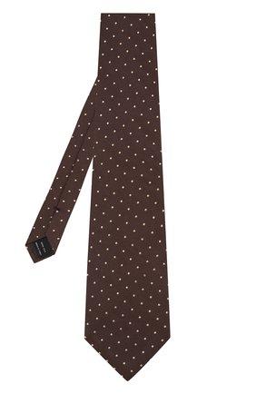 Мужской шелковый галстук TOM FORD темно-коричневого цвета, арт. 3TF43/XTF | Фото 2