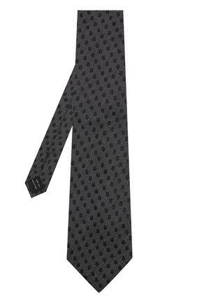 Мужской шелковый галстук TOM FORD черного цвета, арт. 3TF48/XTF   Фото 2