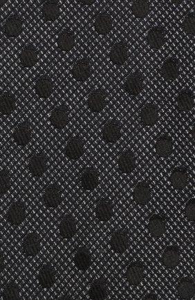 Мужской шелковый галстук TOM FORD черного цвета, арт. 3TF48/XTF   Фото 3