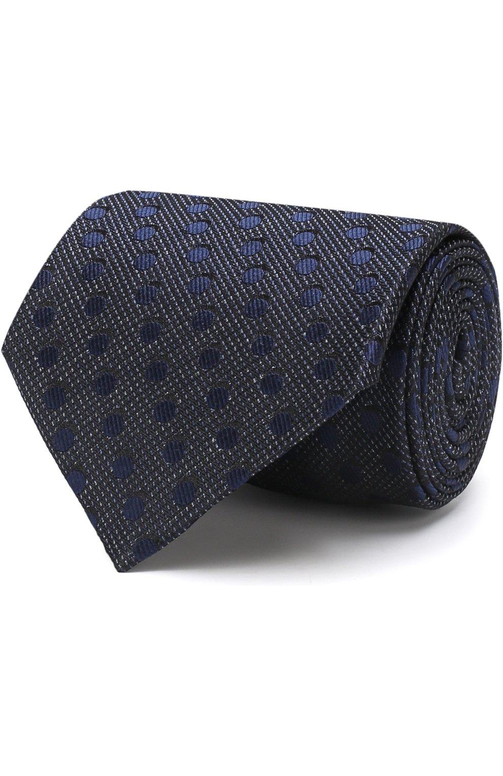 Мужской шелковый галстук TOM FORD синего цвета, арт. 3TF48/XTF | Фото 1