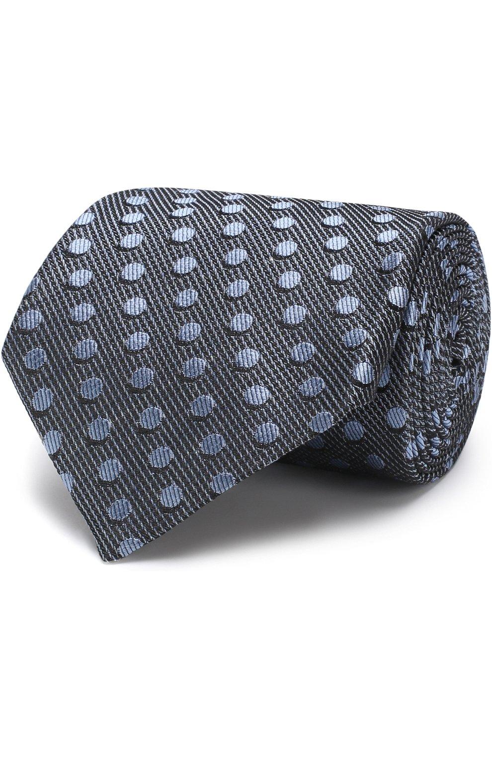 Мужской шелковый галстук TOM FORD голубого цвета, арт. 3TF48/XTF | Фото 1