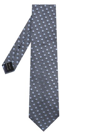 Мужской шелковый галстук TOM FORD голубого цвета, арт. 3TF48/XTF | Фото 2