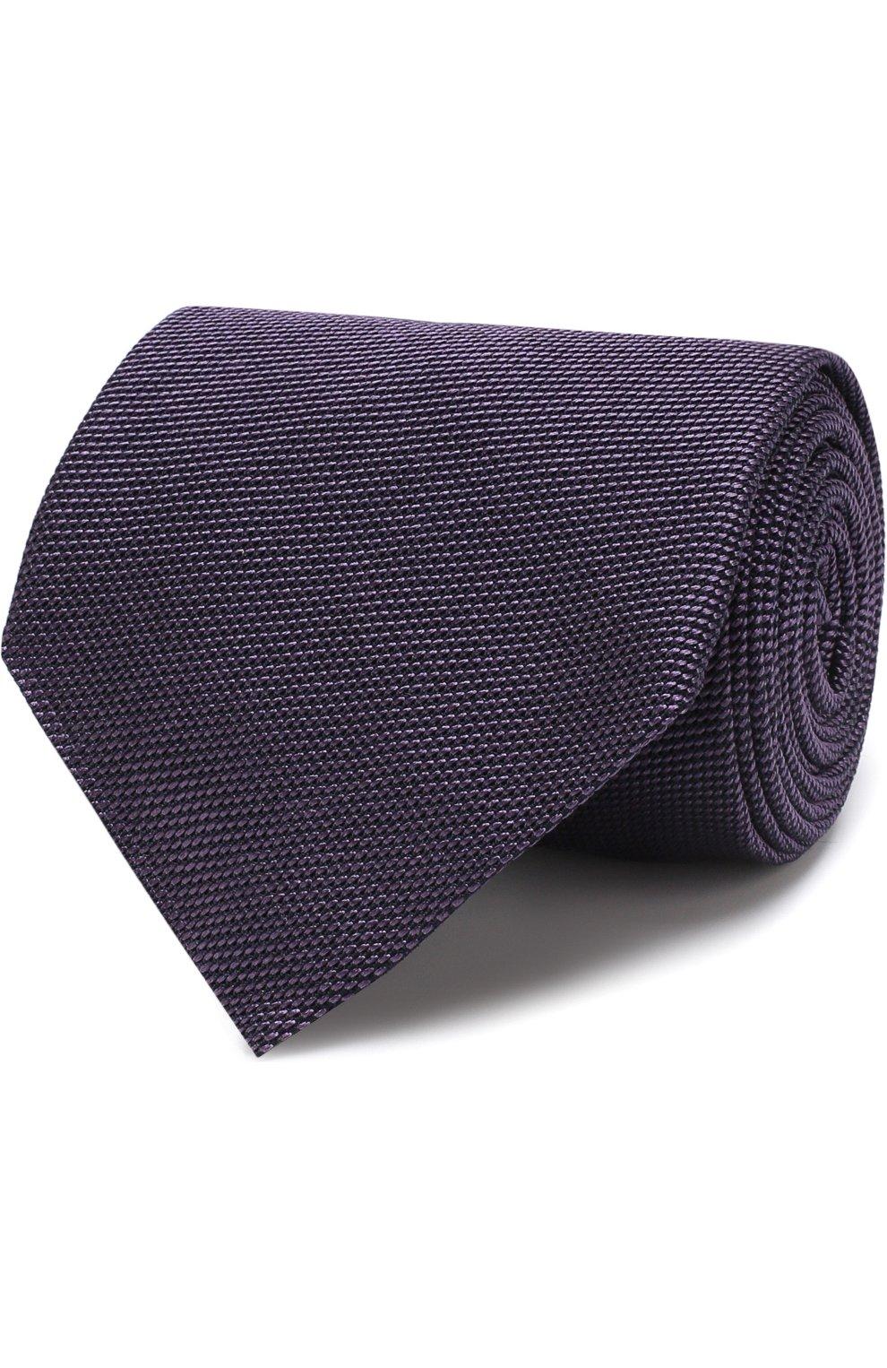 Мужской шелковый галстук TOM FORD фиолетового цвета, арт. 3TF60/XTF | Фото 1