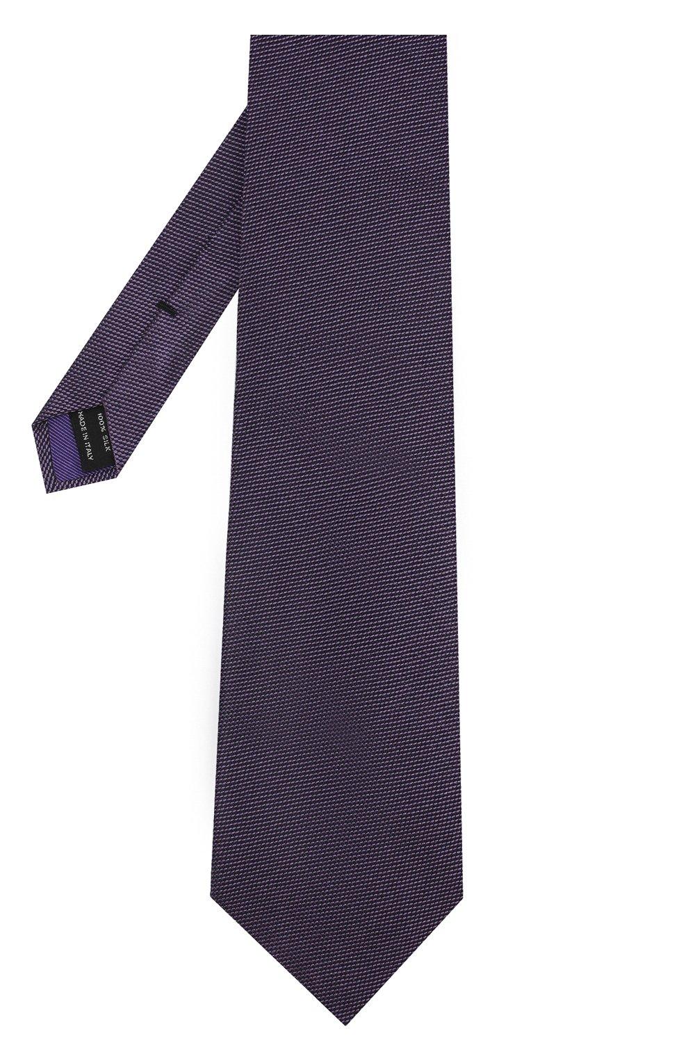 Мужской шелковый галстук TOM FORD фиолетового цвета, арт. 3TF60/XTF | Фото 2