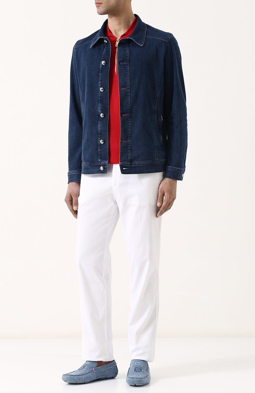 Джинсовая куртка на пуговицах   Фото №2