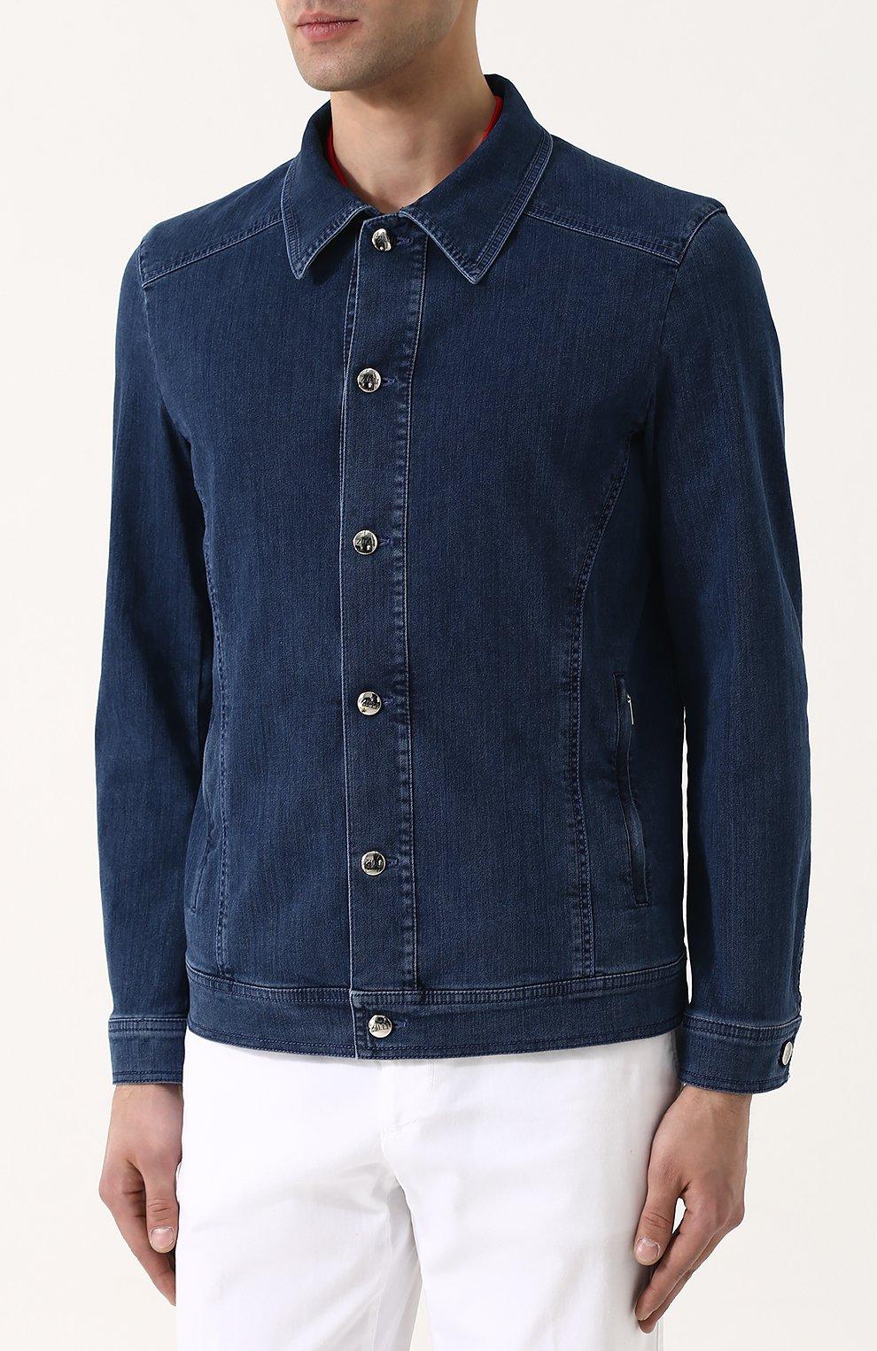 Джинсовая куртка на пуговицах   Фото №3