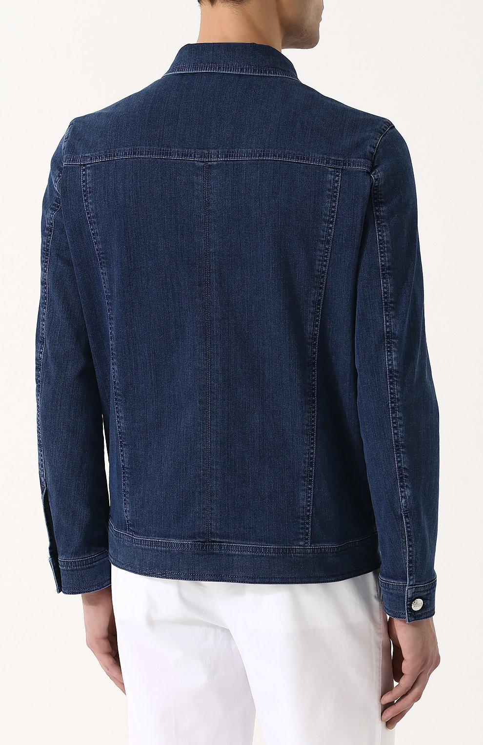 Джинсовая куртка на пуговицах   Фото №4