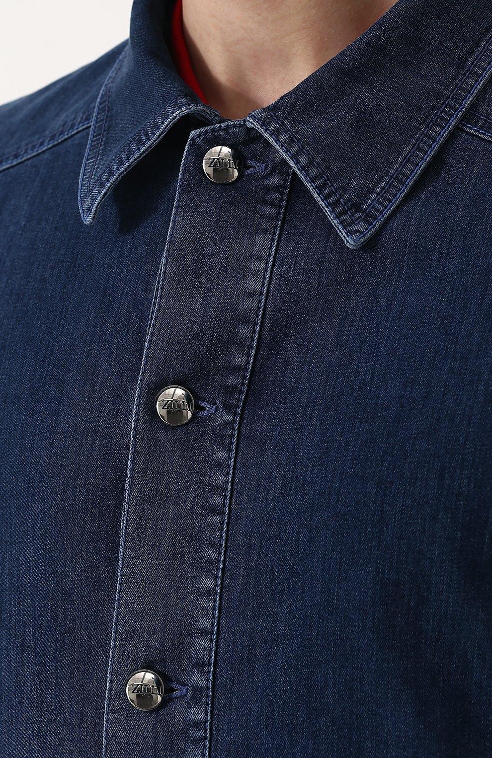 Джинсовая куртка на пуговицах   Фото №5