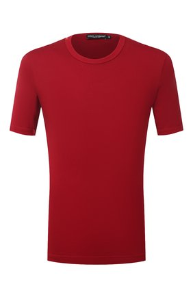 Мужская хлопковая футболка с круглым вырезом DOLCE & GABBANA красного цвета, арт. G8GX8T/FU7EQ   Фото 1