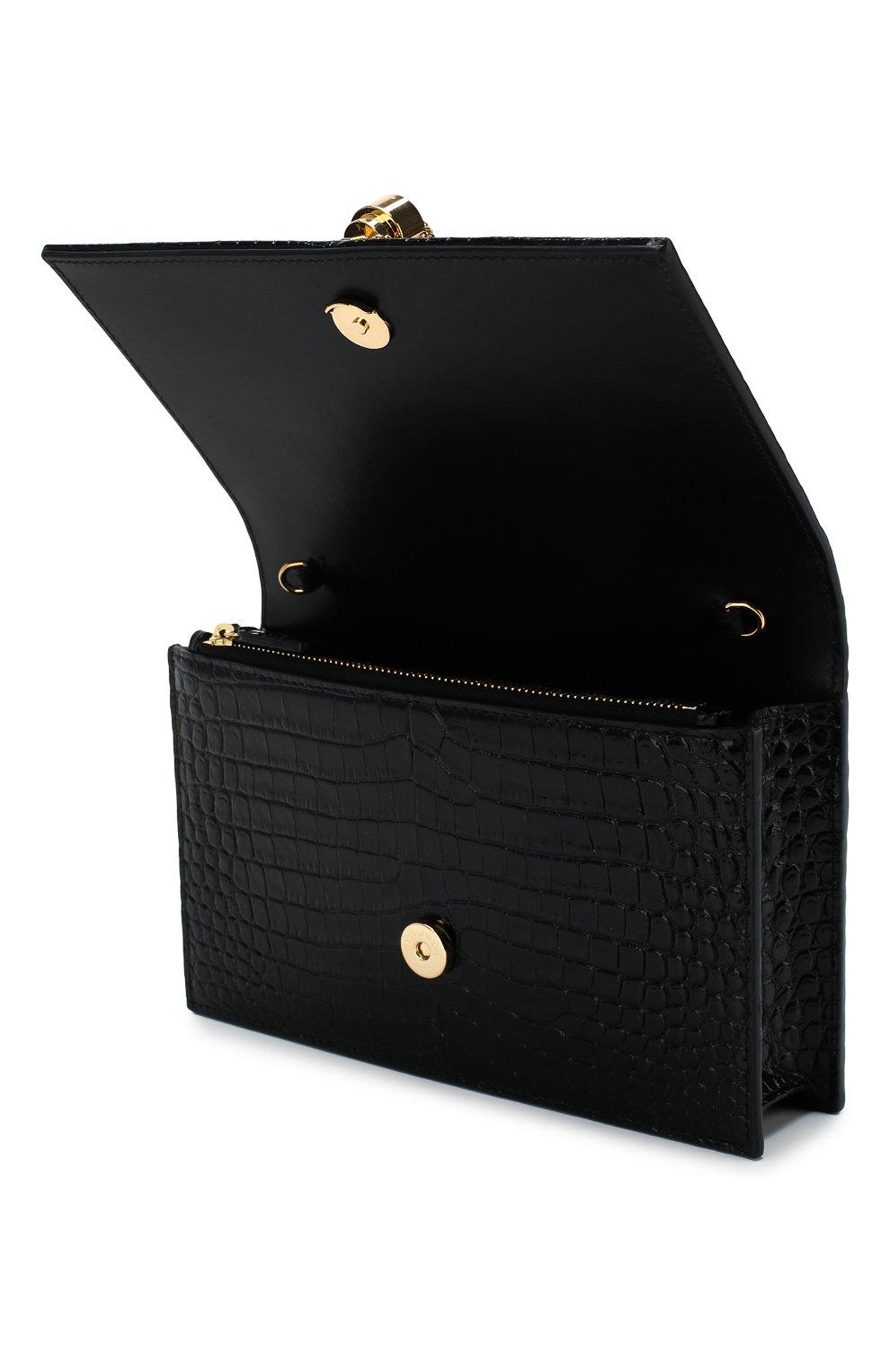 Женская сумка monogram kate small SAINT LAURENT черного цвета, арт. 452159/DND1J | Фото 4