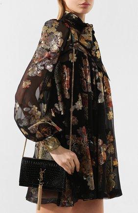 Женская сумка monogram kate small SAINT LAURENT черного цвета, арт. 452159/DND1J | Фото 5