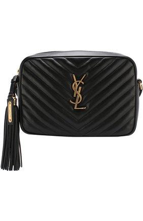 Женская сумка lou medium SAINT LAURENT черного цвета, арт. 520534/DV707   Фото 1