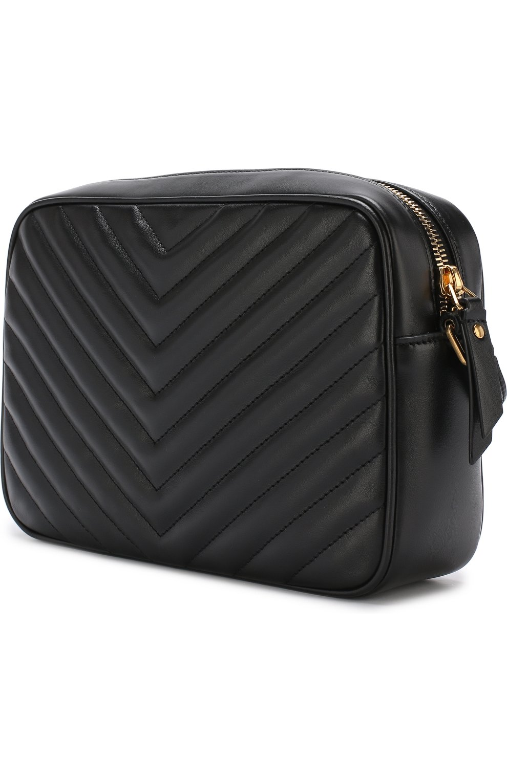 Женская сумка lou medium SAINT LAURENT черного цвета, арт. 520534/DV707   Фото 3