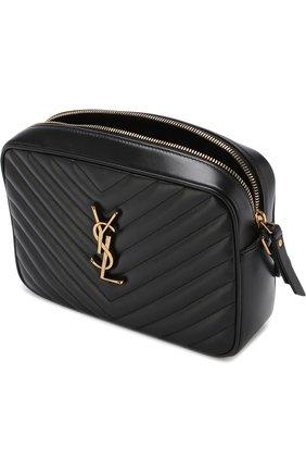 Женская сумка lou medium SAINT LAURENT черного цвета, арт. 520534/DV707   Фото 4