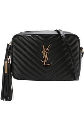 Женская сумка lou medium SAINT LAURENT черного цвета, арт. 520534/DV707   Фото 5