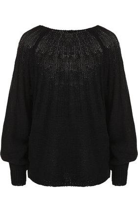 Пуловер свободного кроя из смеси хлопка и льна | Фото №1