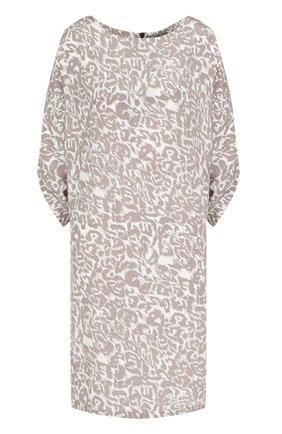 Шелковое мини-платье с принтом   Фото №1
