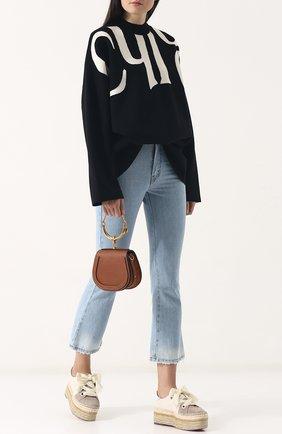 Женская сумка nile small CHLOÉ светло-коричневого цвета, арт. CHC17US301HEU   Фото 2