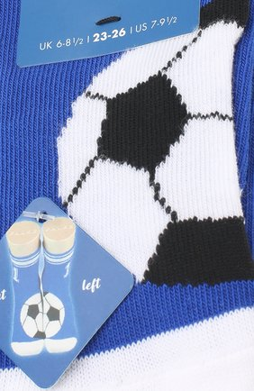 Детские носки с принтом FALKE синего цвета, арт. 12075 | Фото 2