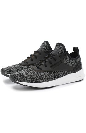 Текстильные кроссовки Zoku Runner Shimmer Reebok черные   Фото №1