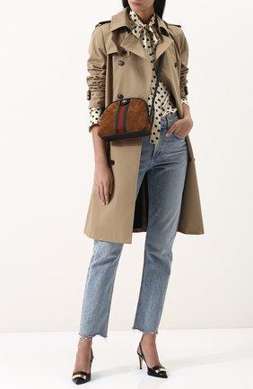 Женская сумка ophidia small GUCCI коричневого цвета, арт. 499621/D6ZYG | Фото 2