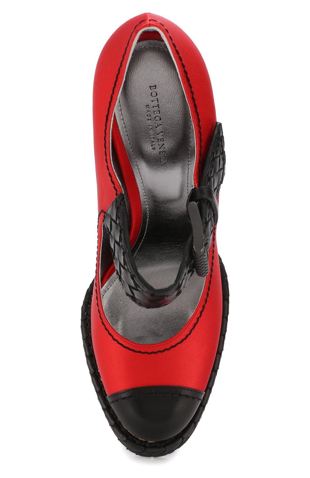 Текстильные туфли на танкетке   Фото №5