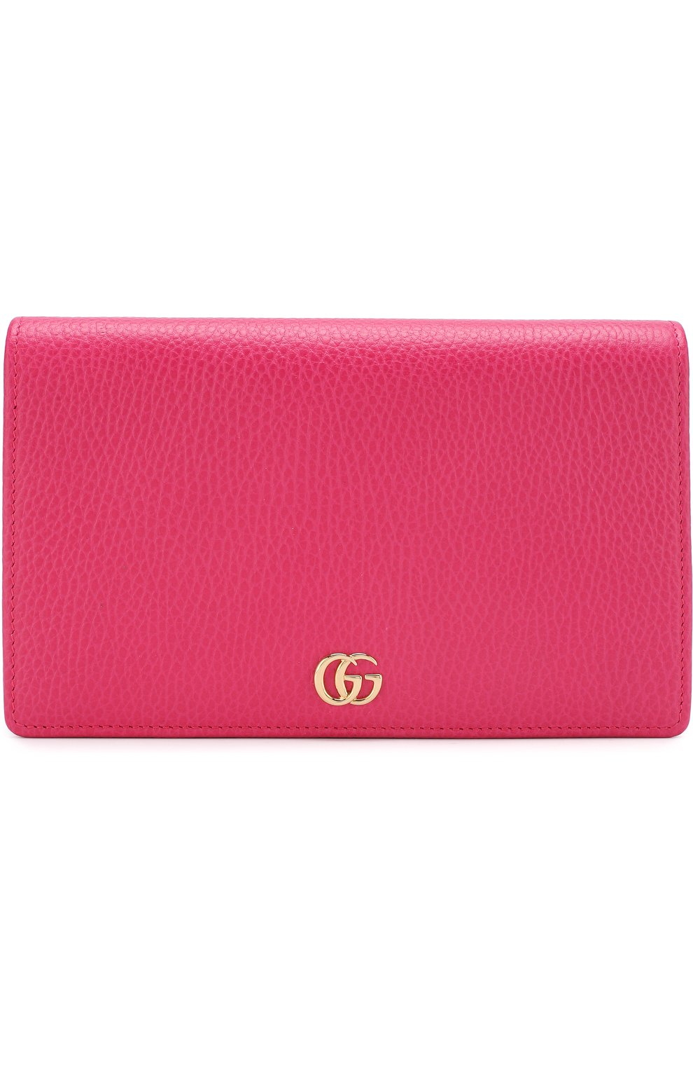 Женская сумка gg marmont mini GUCCI фуксия цвета, арт. 497985/CA00G | Фото 1