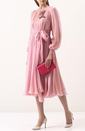 Женская сумка gg marmont mini GUCCI фуксия цвета, арт. 497985/CA00G | Фото 2