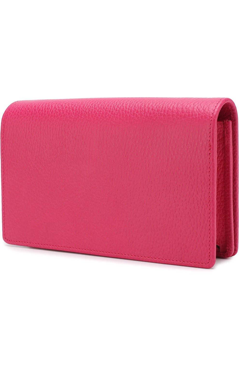 Женская сумка gg marmont mini GUCCI фуксия цвета, арт. 497985/CA00G | Фото 3
