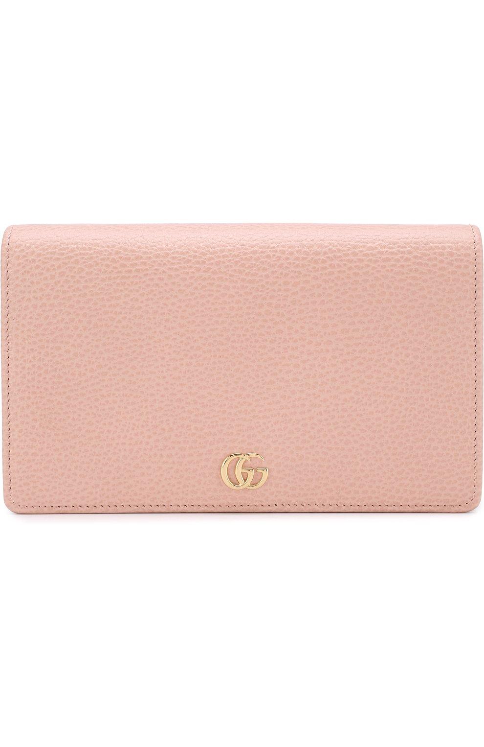 Женская сумка gg marmont mini GUCCI розового цвета, арт. 497985/CA00G | Фото 1