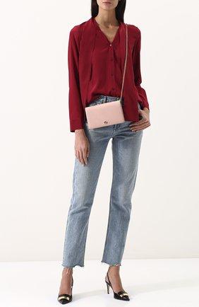 Женская сумка gg marmont mini GUCCI розового цвета, арт. 497985/CA00G | Фото 2