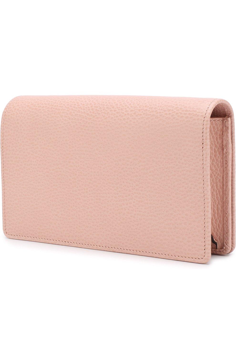 Женская сумка gg marmont mini GUCCI розового цвета, арт. 497985/CA00G | Фото 3