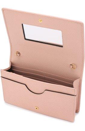 Женская сумка gg marmont mini GUCCI розового цвета, арт. 497985/CA00G | Фото 4