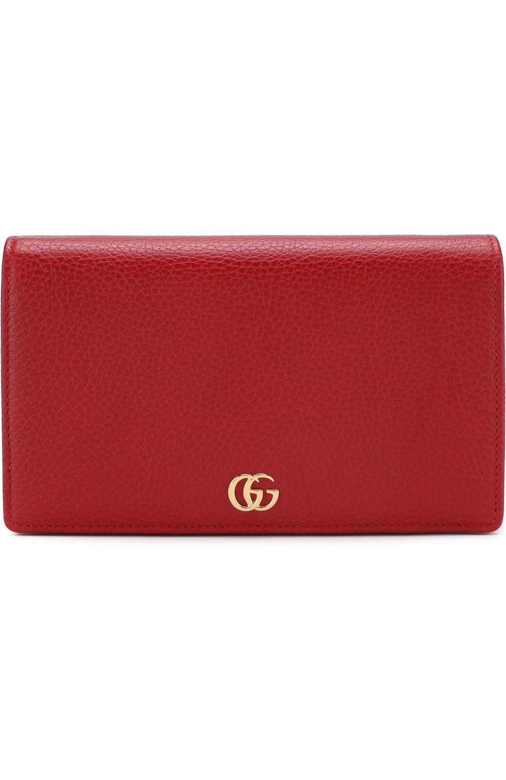 Женская сумка gg marmont mini GUCCI красного цвета, арт. 497985/CA00G | Фото 1