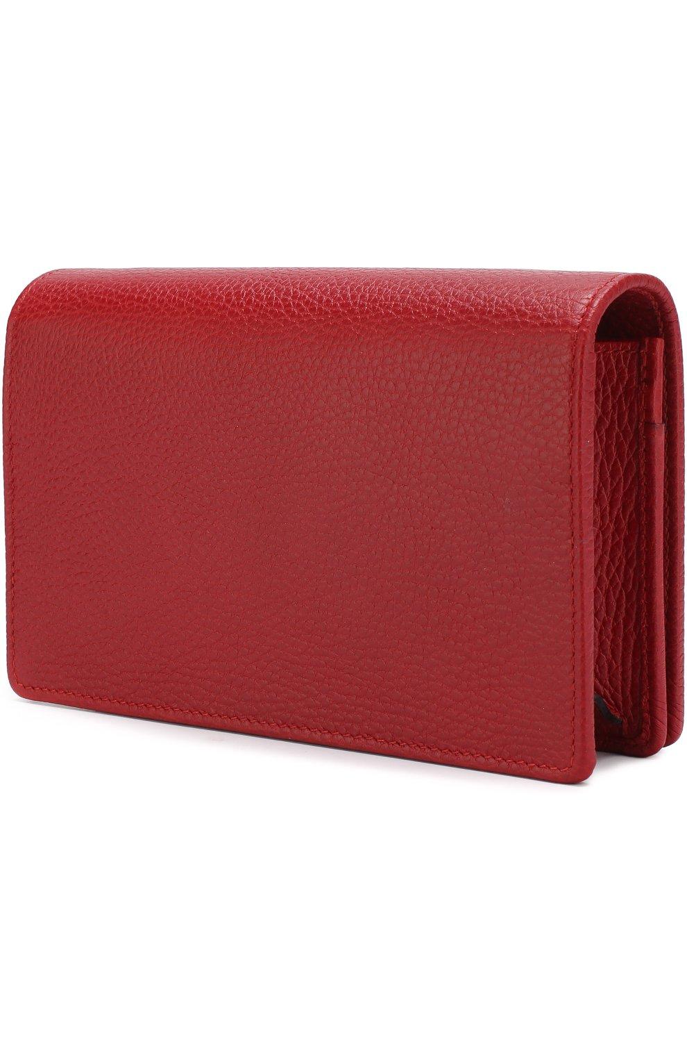 Женская сумка gg marmont mini GUCCI красного цвета, арт. 497985/CA00G | Фото 3
