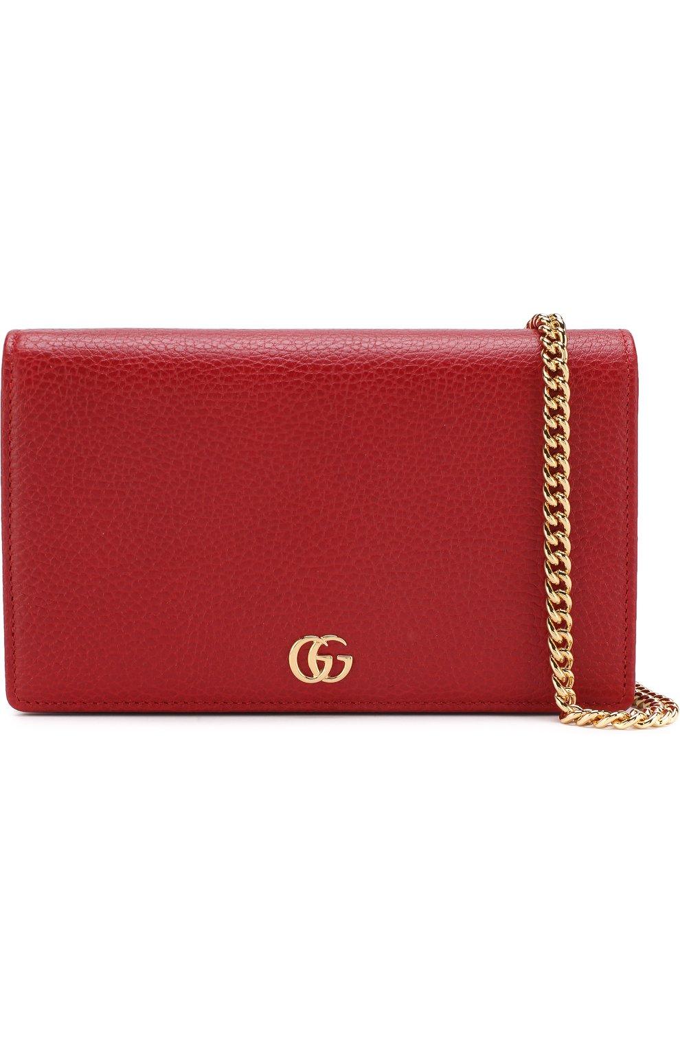 Женская сумка gg marmont mini GUCCI красного цвета, арт. 497985/CA00G | Фото 5