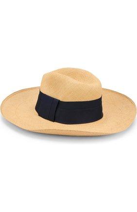 Соломенная шляпа с лентой Artesano бежевого цвета | Фото №1