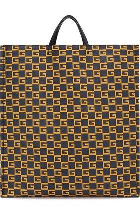 Мужская текстильная сумка-тоут  GUCCI темно-синего цвета, арт. 484690/9HNA0 | Фото 1