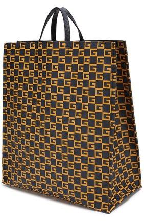 Мужская текстильная сумка-тоут  GUCCI темно-синего цвета, арт. 484690/9HNA0 | Фото 3