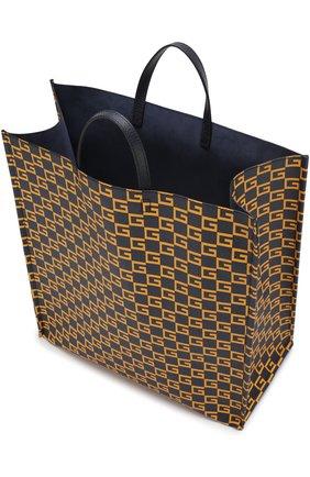Мужская текстильная сумка-тоут  GUCCI темно-синего цвета, арт. 484690/9HNA0 | Фото 4