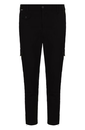 Мужской хлопковые брюки-карго DOLCE & GABBANA черного цвета, арт. GYA8ET/FUFGD   Фото 1